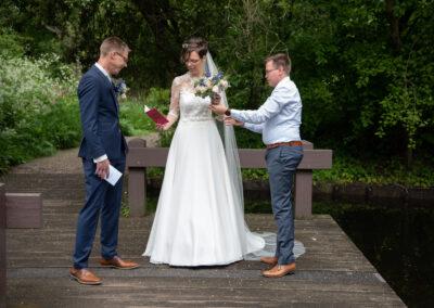 Bruiloft videograafprofessionele bruiloft videograaf