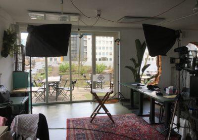 Bedrijfsfilm interview setup
